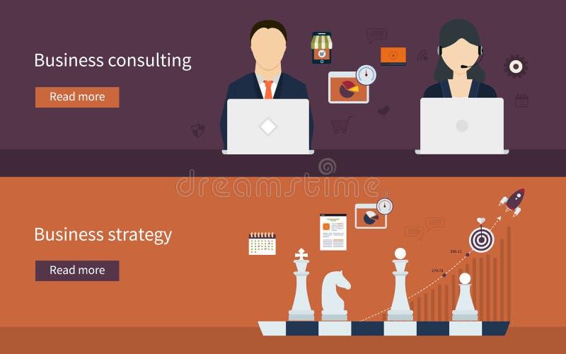 Pictogrammen voor bedrijfsstrategie stock illustratie