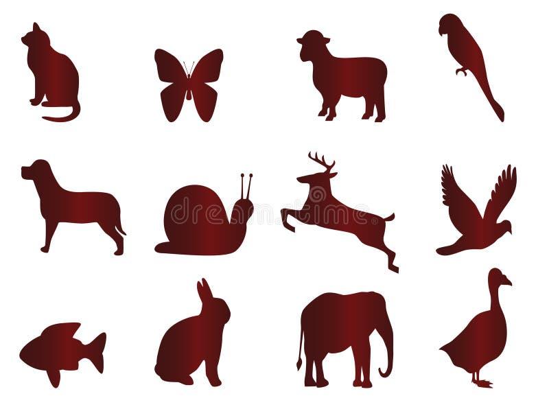 Pictogrammen voor dieren stock illustratie
