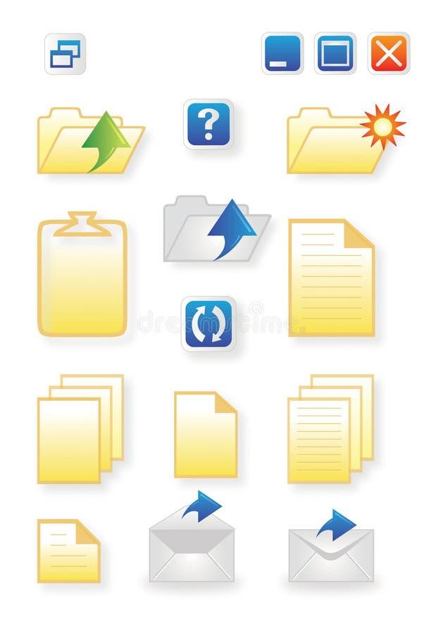 Download Pictogrammen Voor Gemeenschappelijke Computerfuncties Vector Illustratie - Illustratie bestaande uit internet, document: 10784103