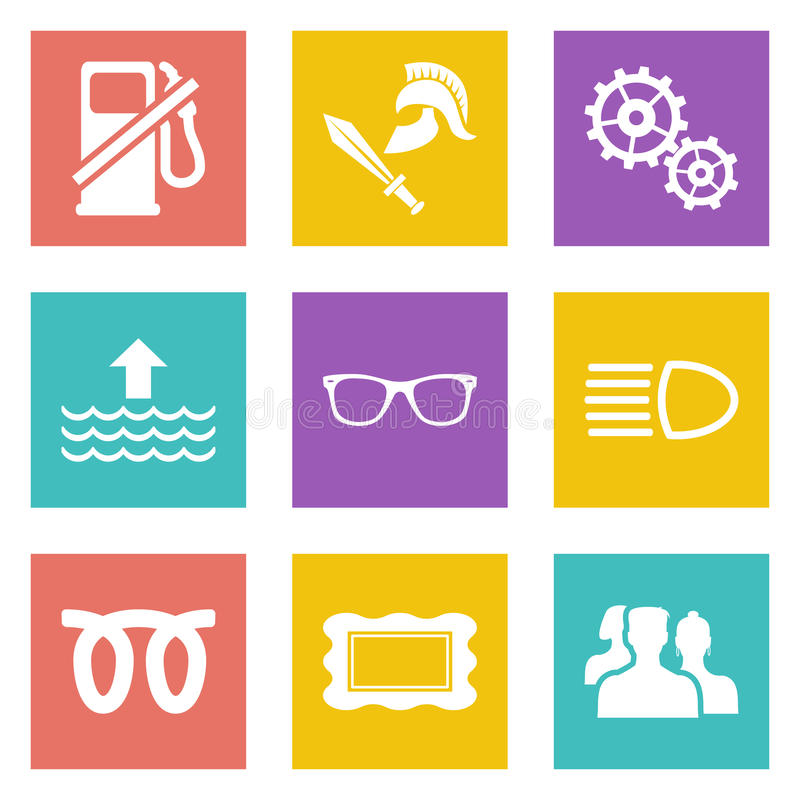 Pictogrammen voor reeks 19 van het Webontwerp vector illustratie