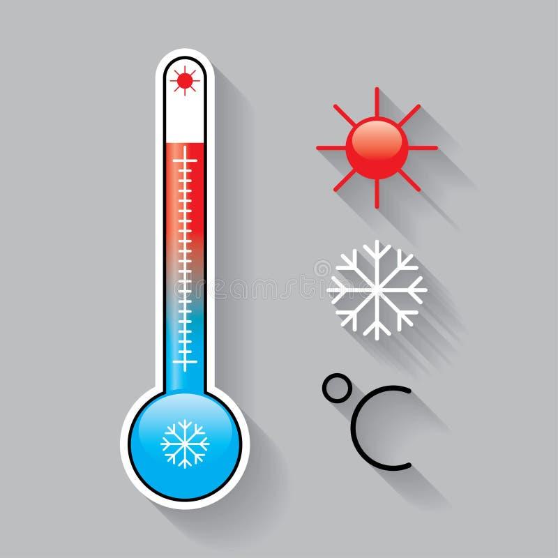 Pictogrammen voor temperatuur stock illustratie