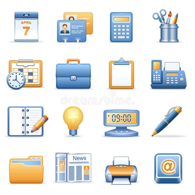 Pictogrammen voor Web blauwe oranje reeks 2 vector illustratie