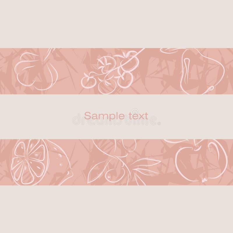 Pictogrammen voor winkels Naadloze riem met een patroon Apple, erwt stock illustratie