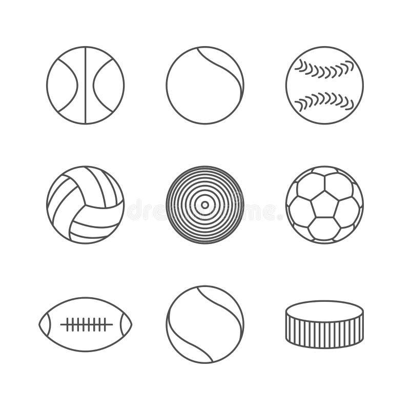 Pictogrammenballen, vectorillustratie royalty-vrije illustratie
