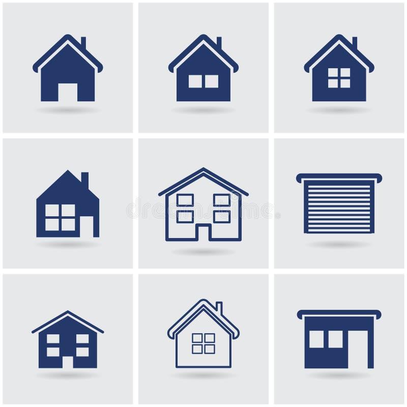 Pictogrammenhuizen stock illustratie