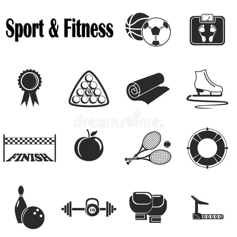 Pictogrammensport en Fitness stock foto's