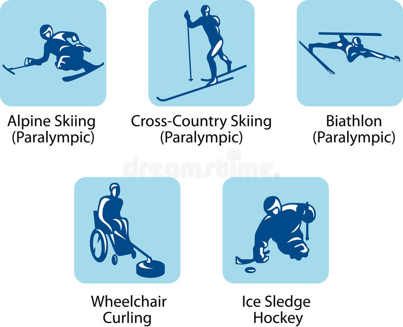 Pictogrammes de sport (paralympic) illustration stock
