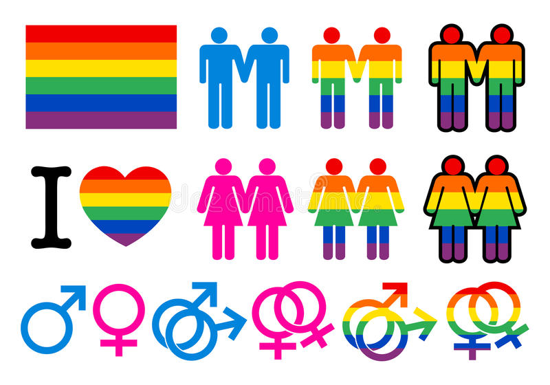 Pictogrammes homosexuels illustration de vecteur