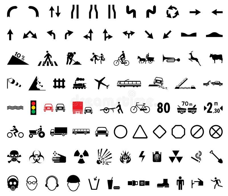 pictogrammes universels illustration de vecteur