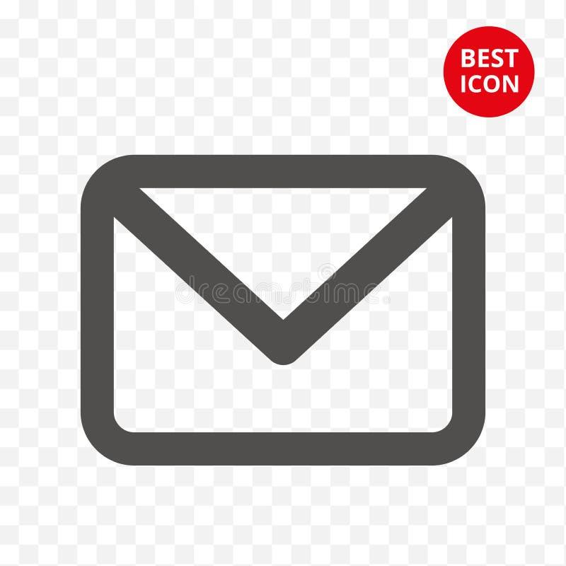 Pictogrampost E-mail isoleerde teken In postsymbool Lijn Vectorillustratie Voor de mobiele popup toepassing van de Webwebsite vector illustratie
