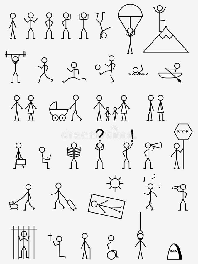 pictograms vektor illustrationer
