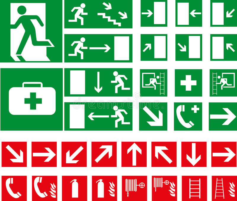 Pictograms royalty free illustration