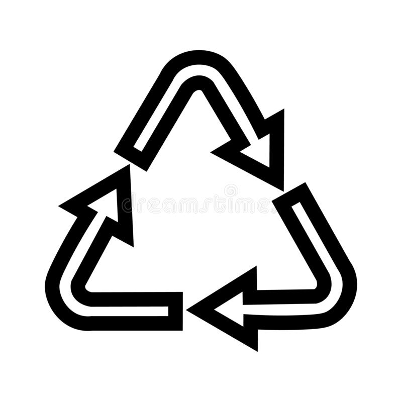 Pictograms for the recycling symbols, products for design royalty free illustration