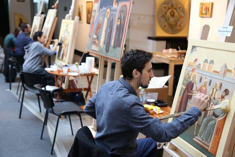 Pictogramschilders royalty-vrije stock afbeeldingen