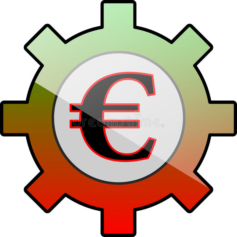 Pictogramtoestel met Euro symbool vector illustratie