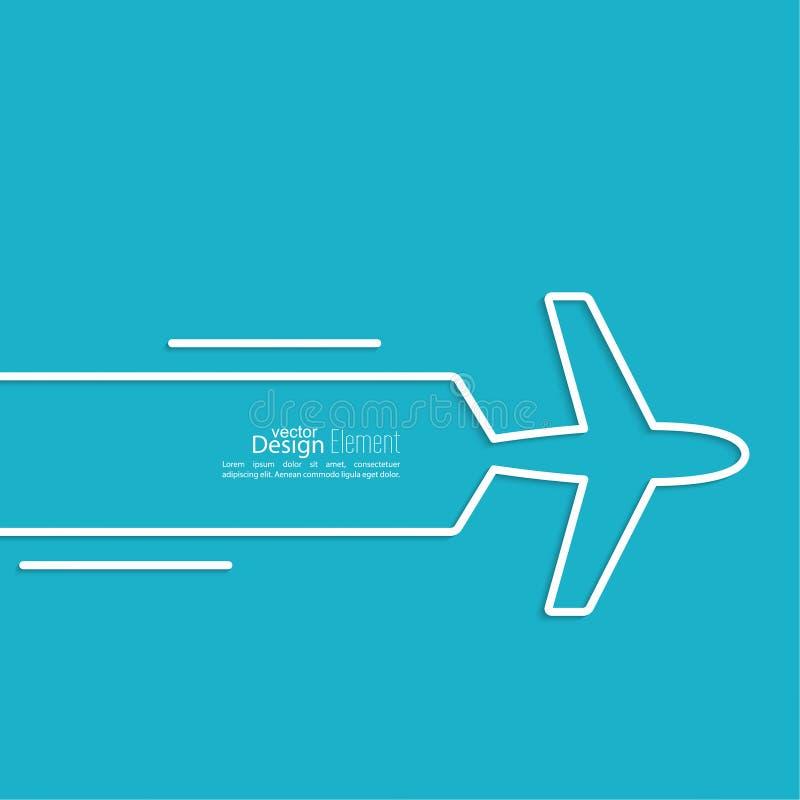 Pictogramvliegtuig vector illustratie