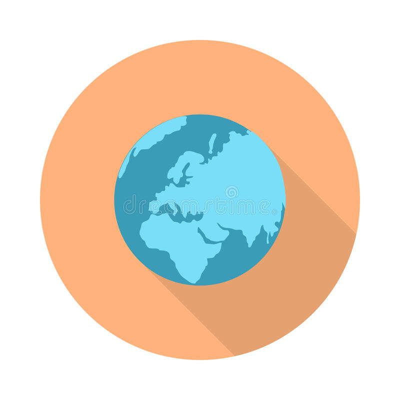 Pictograph Globe Icon on White. stock illustration