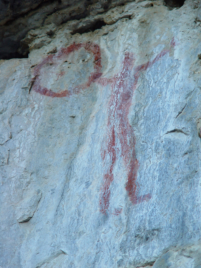 Pictograph of human figure royalty free stock photos