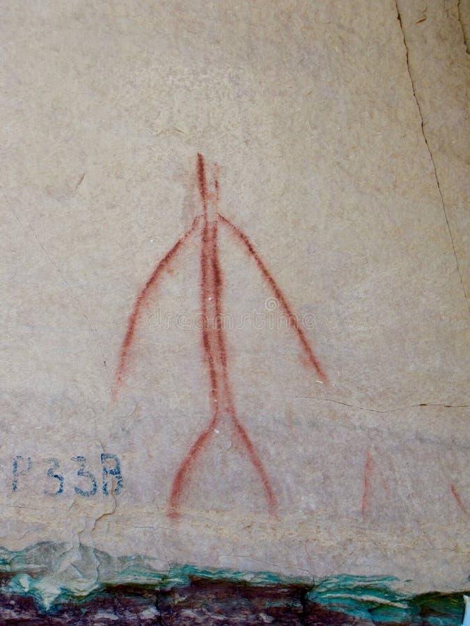 Pictograph på den McConkie ranchen nära Vernal, Utah arkivfoto