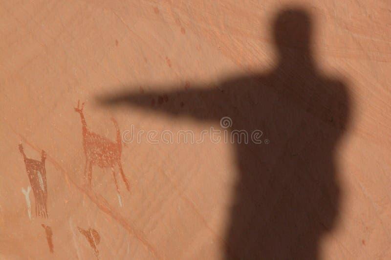 Download Pictograph Spirit Guardian stock image. Image of petroglyphs - 165959
