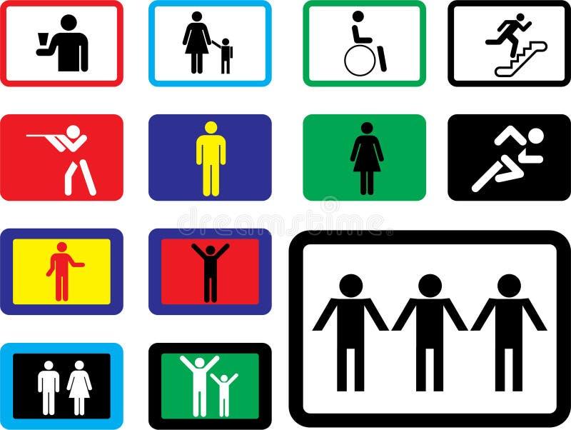 pictographs людей икон бесплатная иллюстрация