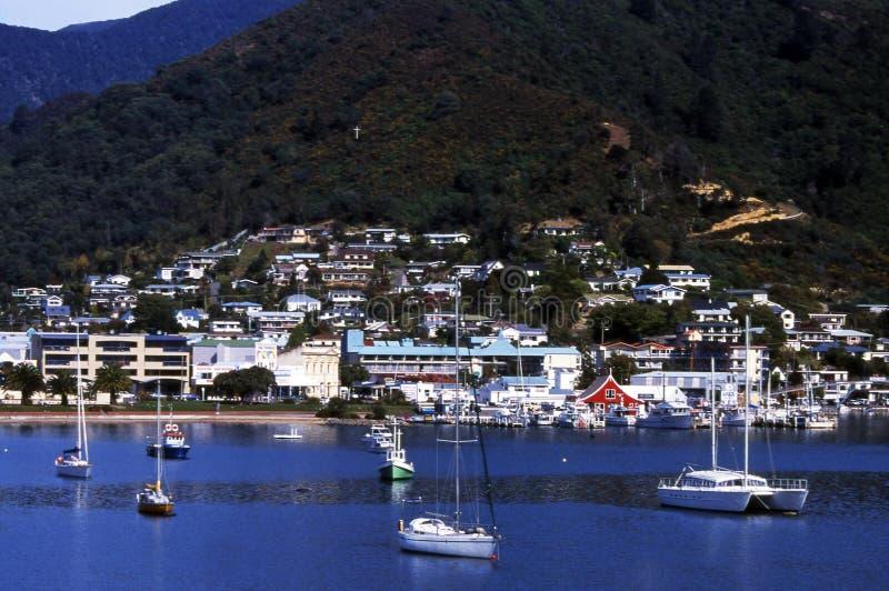 Picton,新西兰 库存照片
