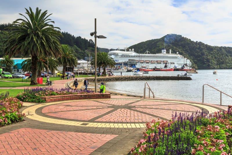 Picton, Новая Зеландия Мемориальный парк, смотря к гавани стоковая фотография rf