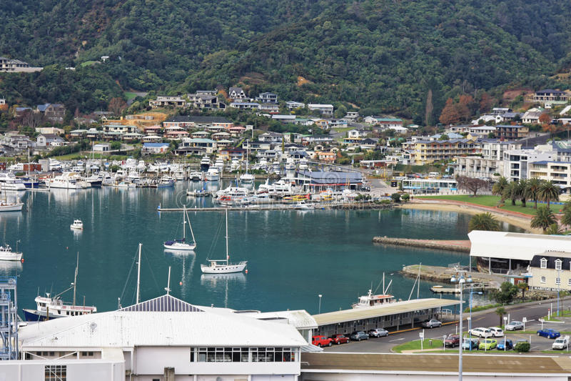 Picton schronienie Nowa Zelandia 145 obrazy stock