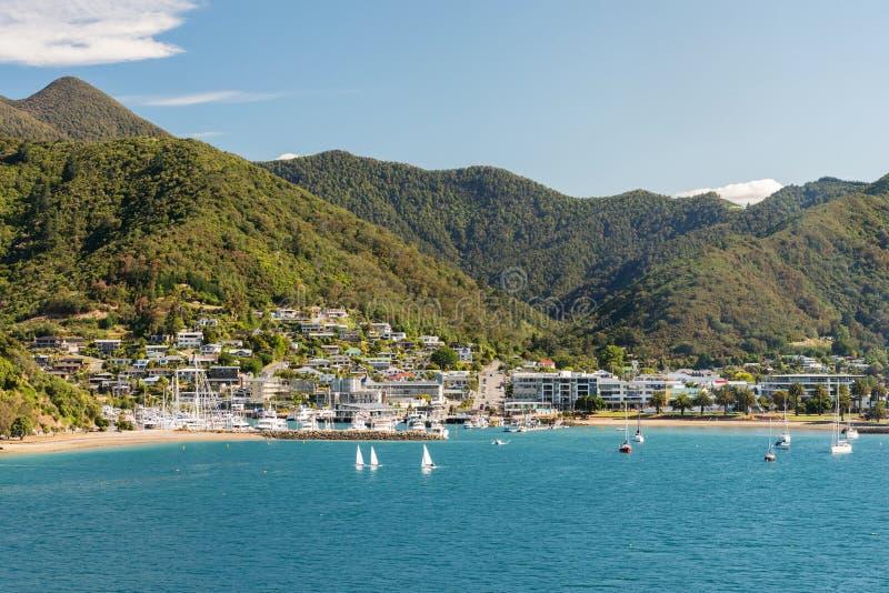 Picton sur l'île du sud du Nouvelle-Zélande image stock