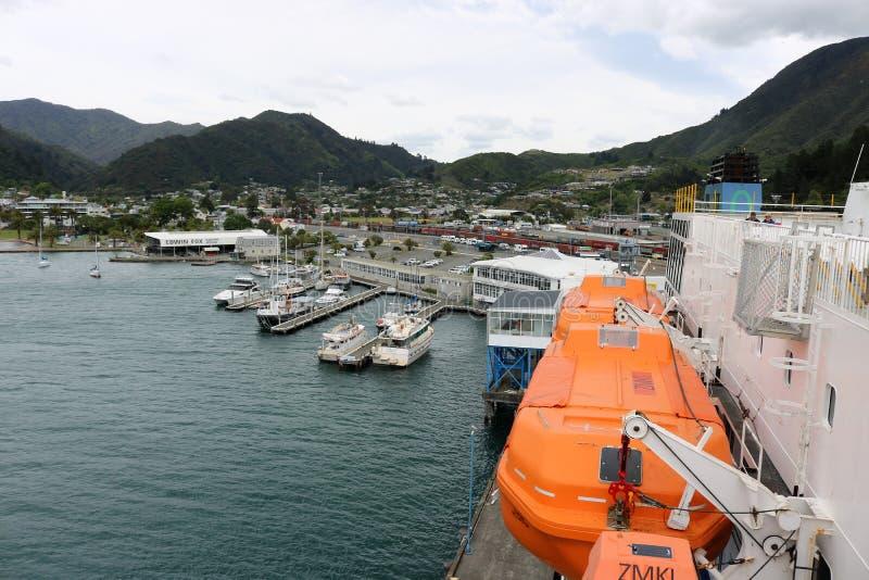 Pictonhaven, Interislander-veerboot Nieuw Zeeland royalty-vrije stock fotografie