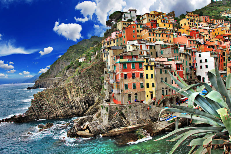 Download Pictorial Italy stock photo. Image of blue, coast, architecture - 26968608