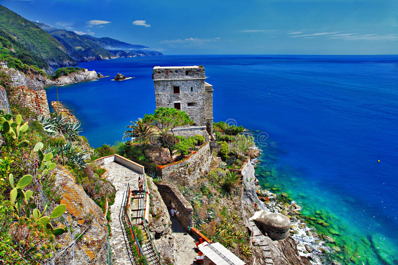 Download Pictorial Italy stock photo. Image of harbor, coast, rock - 26968614