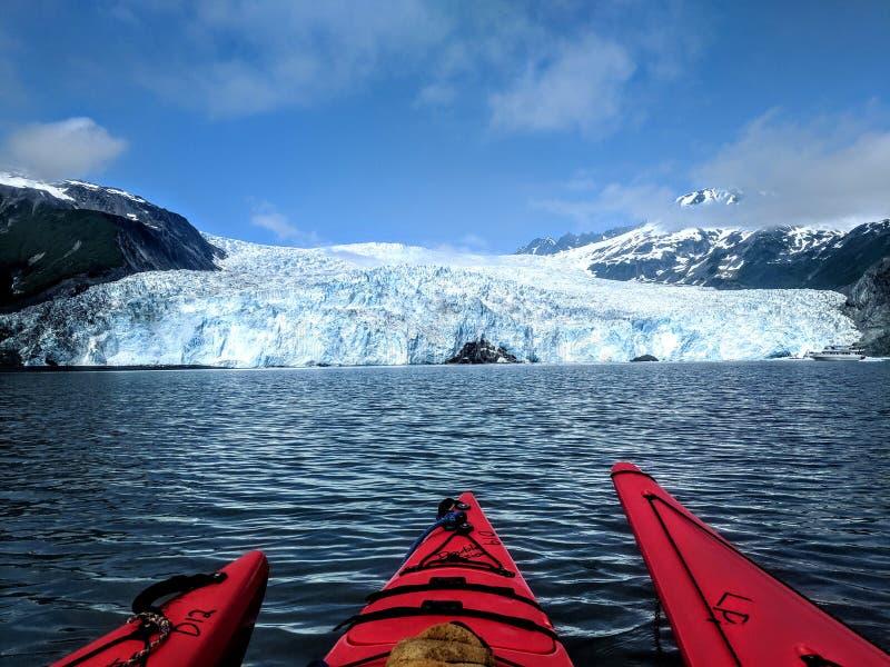 Kayaking Aialik Glacier stock images