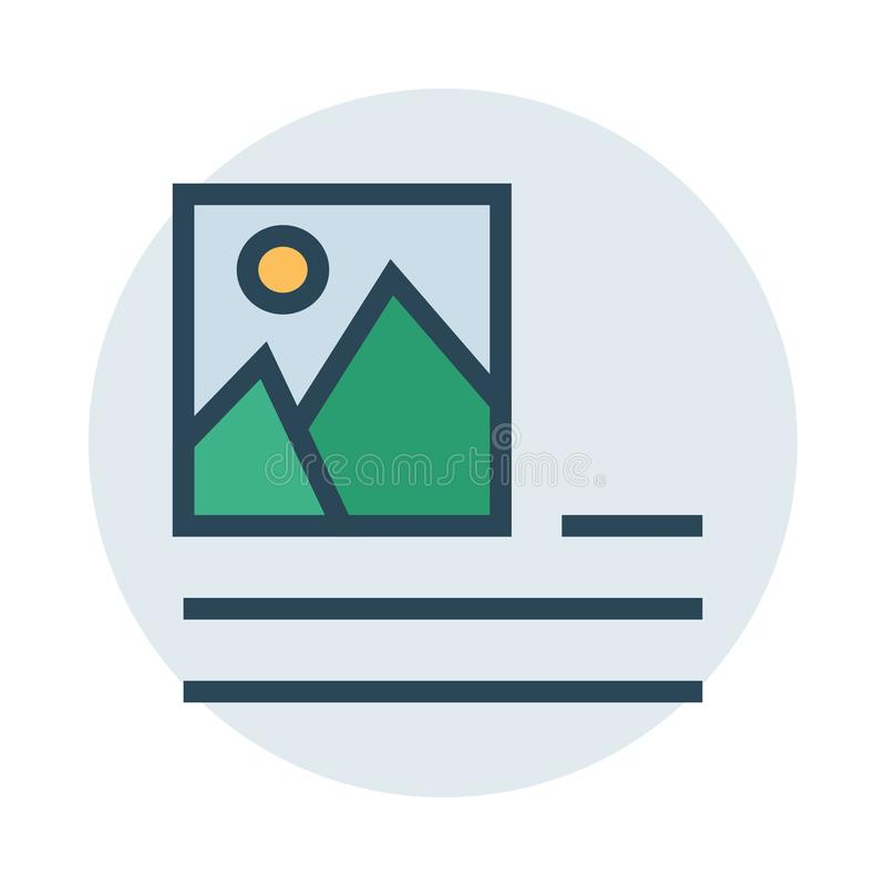 Picture alignment color line icon. Vector flat Icon. Elements for mobile concept and web apps. Thin line icons for website design and development, app stock illustration