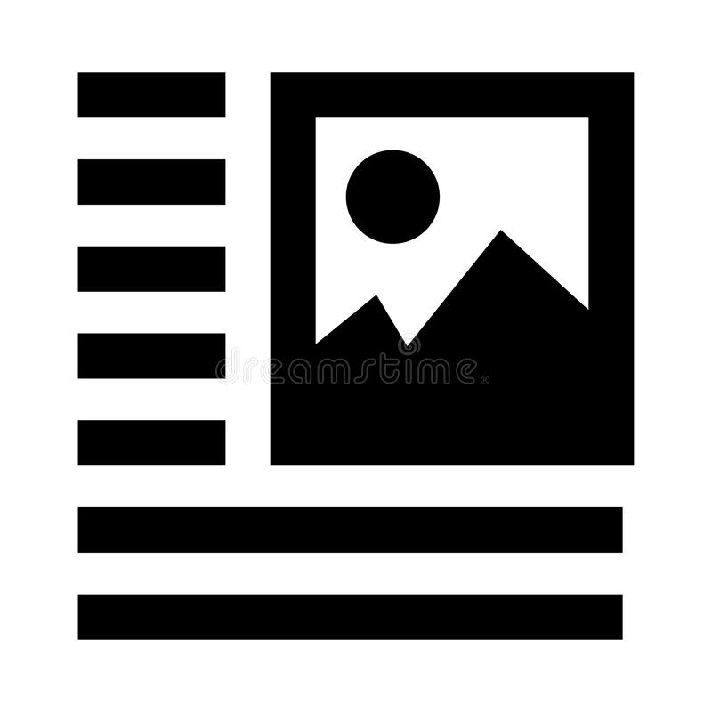 Picture alignment glyphs icon. Picture alignment Vector glyphs Icon. Elements for mobile concept and web apps. Thin line icons for website design and development vector illustration