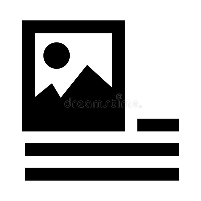 Picture alignment glyphs icon. Picture alignment Vector glyphs Icon. Elements for mobile concept and web apps. Thin line icons for website design and development stock illustration