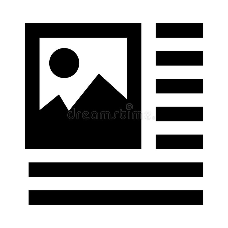 Picture alignment glyphs icon. Picture alignment Vector glyphs Icon. Elements for mobile concept and web apps. Thin line icons for website design and development royalty free illustration