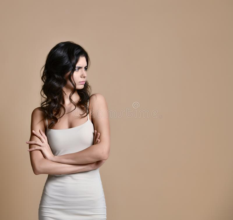 Picture of angry young woman royalty free stock image