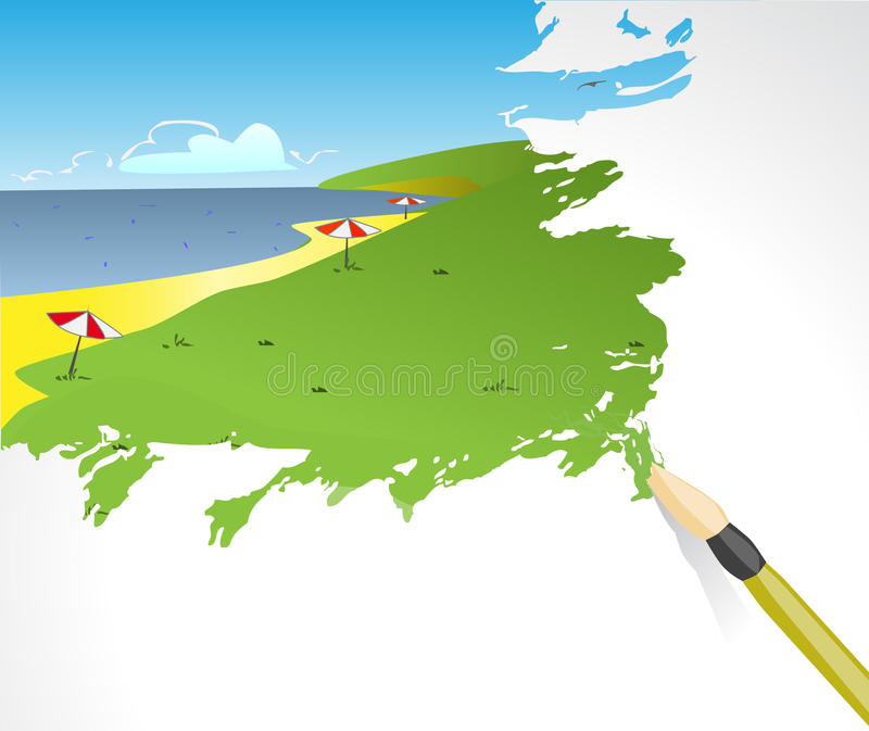 Download Picture of a beach stock vector. Illustration of illustration - 18473652