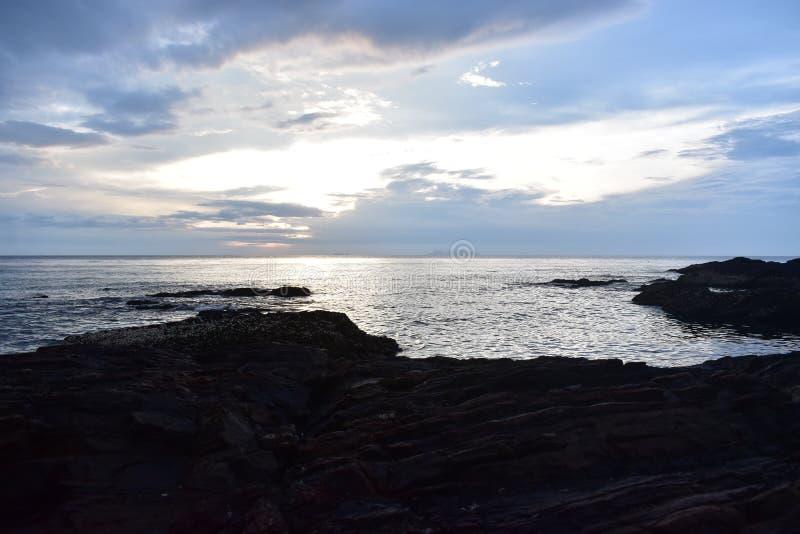 Beach and Rocks stock photo