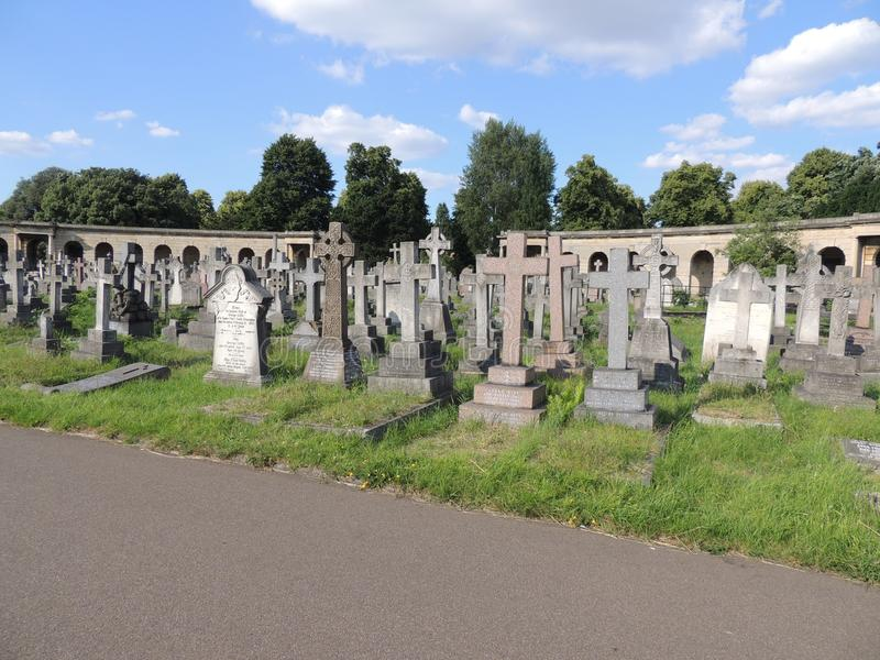 Beautiful cemetery in London city stock images