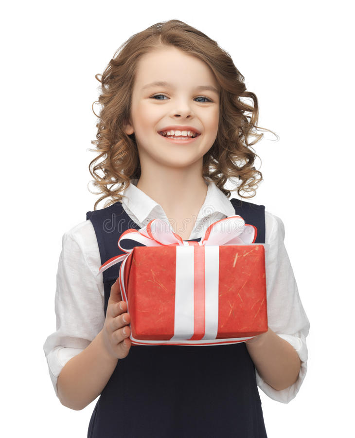 Download Girl with gift box stock photo. Image of charming, education - 30015200