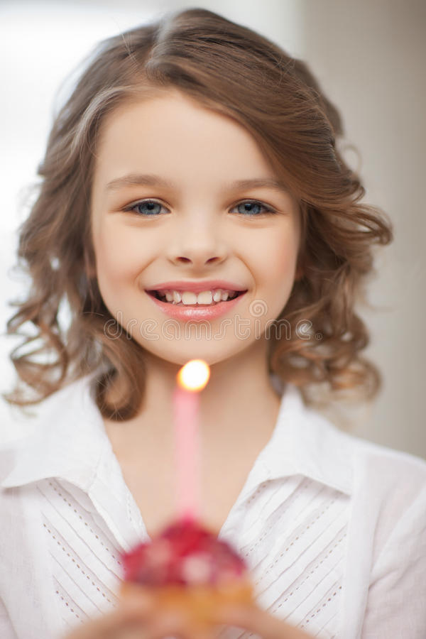 Download Girl with cupcake stock photo. Image of birth, bakery - 30015330