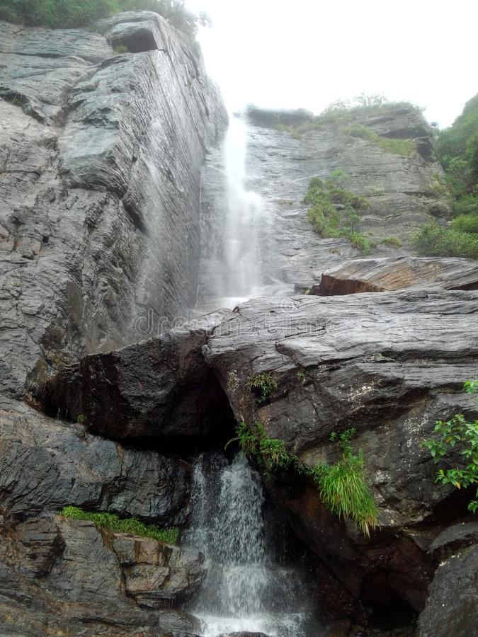 The lover`s fall waterfall in Sri Lanka. stock photos