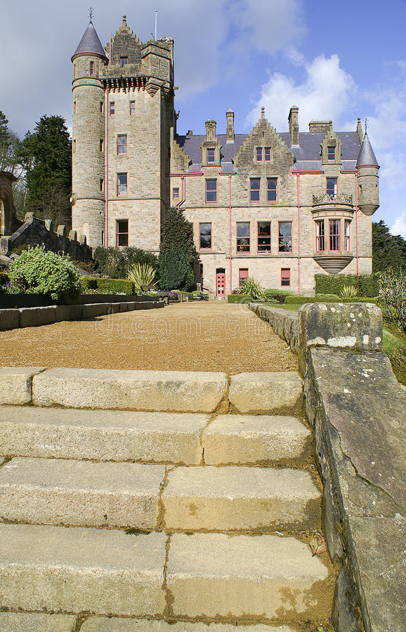 Picture of Belfast Castle in Northern Ireland. Belfast Castle in Northern Ireland. Blue Sky royalty free stock photography