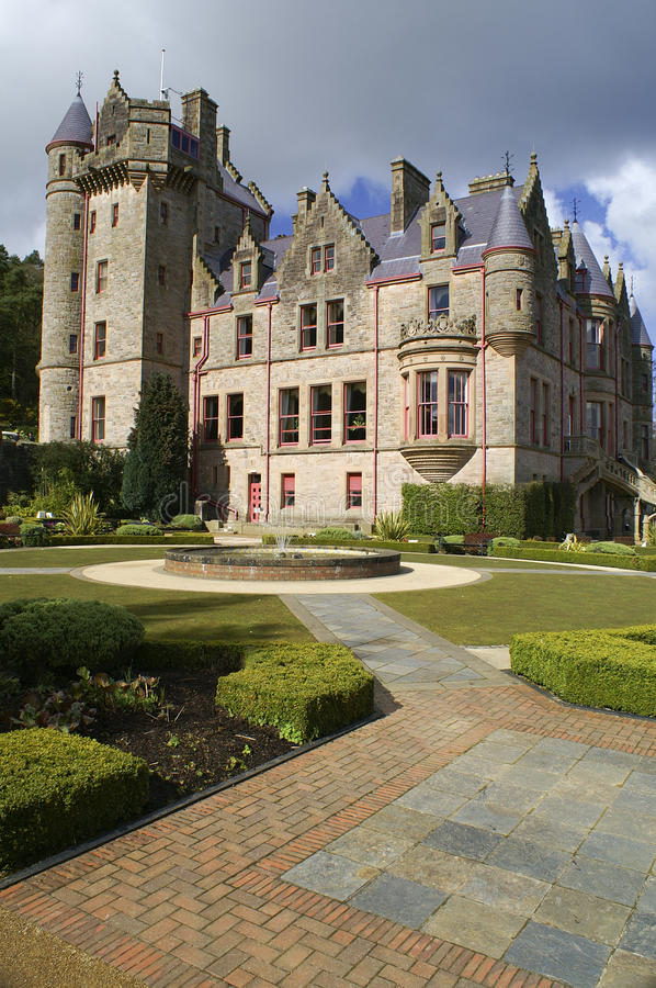 Picture of Belfast Castle in Northern Ireland. Belfast Castle in Northern Ireland. Blue Sky stock photo