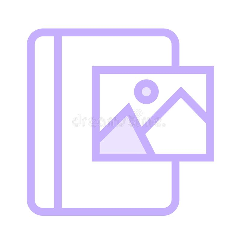 Picture book color line icon. Vector flat Icon. Elements for mobile concept and web apps. Thin line icons for website design and development, app development royalty free illustration