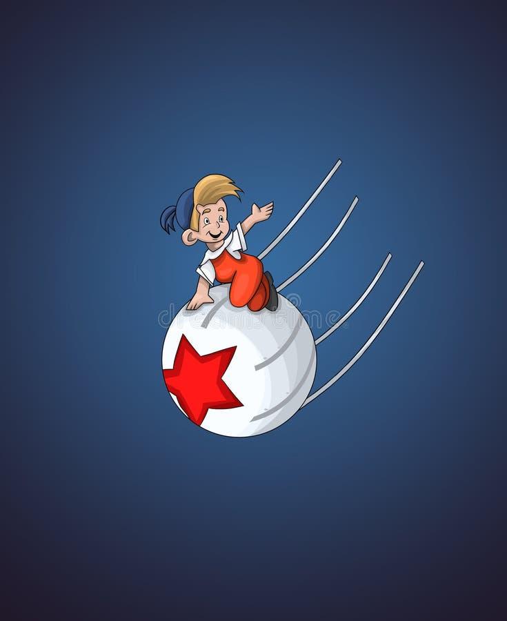 Download Boy On The Ball Character Cartoon Style  Illustration Dark Stock Illustration - Illustration: 29934016