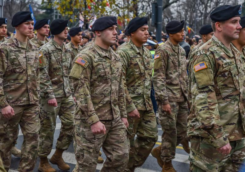 usa army at Romania National Day , 1 december 2017 royalty free stock photo