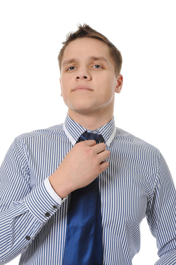 Download Picture Of A Business Man Adjusting His Tie Stock Image - Image: 17125623